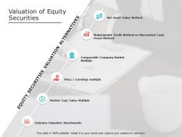 Valuation Of Equity Securities Market Cap Ppt Powerpoint Slides