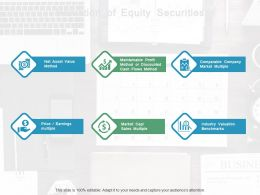 Valuation Of Equity Securities Ppt Powerpoint Presentation File Graphic Tips