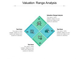 Valuation Range Analysis Ppt Powerpoint Presentation Portfolio Background Images Cpb