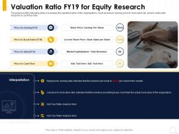 Valuation Ratio FY19 For Equity Research Current Share Price Ppt Powerpoint Presentation Professional Elements