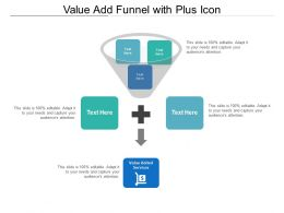 Value Add Funnel With Plus Icon
