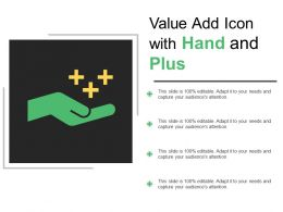 Value Add Icon With Hand And Plus