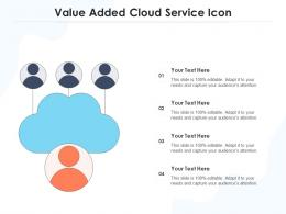 Value Added Cloud Service Icon