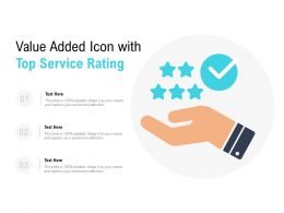 Value Added Icon With Top Service Rating