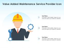 Value Added Maintenance Service Provider Icon