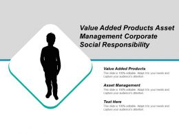 Value Added Products Asset Management Corporate Social Responsibility