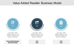 Value Added Reseller Business Model Ppt Powerpoint Presentation Slides Cpb