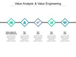 Value Analysis And Value Engineering Ppt Powerpoint Presentation Layouts Icons Cpb