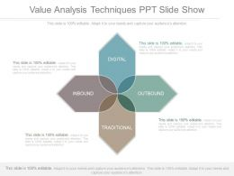 Value Analysis Techniques Ppt Slide Show