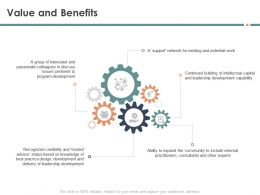 Value And Benefits Group M1572 Ppt Powerpoint Presentation Inspiration Skills