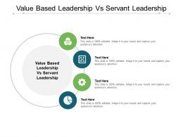 Value Based Leadership Vs Servant Leadership Ppt Powerpoint Presentation Styles Portrait Cpb