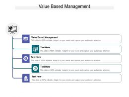 Value Based Management Ppt Powerpoint Presentation Summary Design Inspiration Cpb