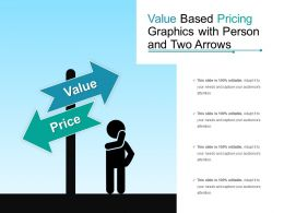 Value Based Pricing Graphics With Person And Two Arrows