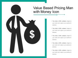 Value Based Pricing Man With Money Icon