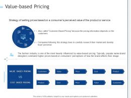 Value Based Pricing Ppt Powerpoint Presentation Model Show