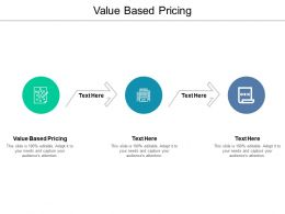 Value Based Pricing Ppt Powerpoint Presentation Summary Guide Cpb