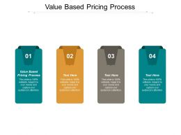 Value Based Pricing Process Ppt Powerpoint Presentation Pictures Show Cpb