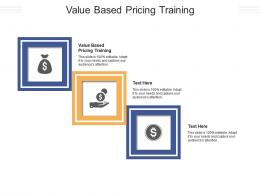 Value Based Pricing Training Ppt Powerpoint Presentation Slides Design Templates Cpb