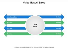 Value Based Sales Ppt Powerpoint Presentation Styles Aids Cpb