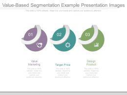Value Based Segmentation Example Presentation Images