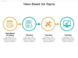 Value Based Six Sigma Ppt Powerpoint Presentation Visual Aids Example 2015 Cpb