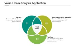 Value Chain Analysis Application Ppt Powerpoint Presentation Slides Cpb
