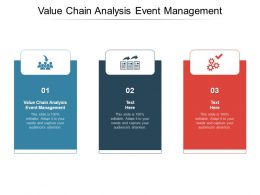 Value Chain Analysis Event Management Ppt Powerpoint Presentation Designs Cpb