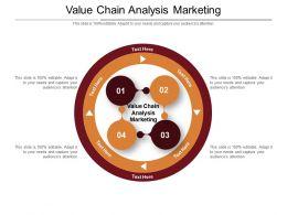 Value Chain Analysis Marketing Ppt Powerpoint Presentation Infographics Skills Cpb