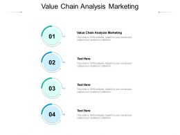 Value Chain Analysis Marketing Ppt Powerpoint Presentation Model Picture Cpb
