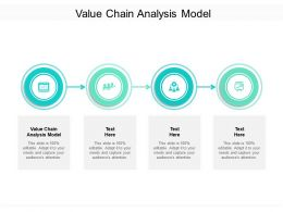 Value Chain Analysis Model Ppt Powerpoint Presentation Inspiration Graphics Cpb