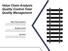 Value Chain Analysis Quality Control Total Quality Management Cpb
