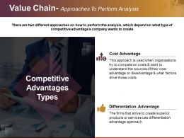 Value Chain Approaches To Perform Analysis