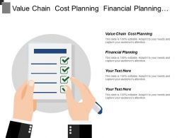 Value Chain Cost Planning Financial Planning Resource Management