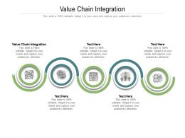 Value Chain Integration Ppt Powerpoint Presentation Portfolio Guidelines Cpb