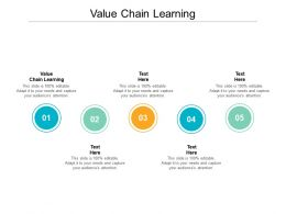 Value Chain Learning Ppt Powerpoint Presentation Gallery Diagrams Cpb