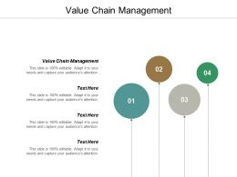Value Chain Management Ppt Powerpoint Presentation Infographic Template Demonstration Cpb