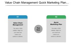 Value Chain Management Quick Marketing Plan Financial Statements Accounting Cpb
