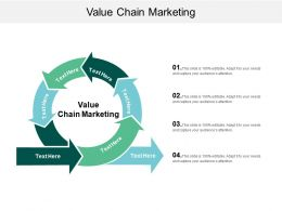 Value Chain Marketing Ppt Powerpoint Presentation Portfolio Ideas Cpb