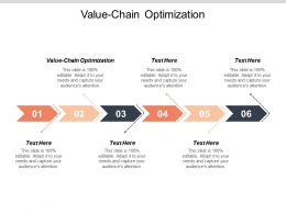 Value Chain Optimization Ppt Powerpoint Presentation Ideas Visual Aids Cpb