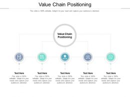 Value Chain Positioning Ppt Powerpoint Presentation Portfolio Graphics Download Cpb