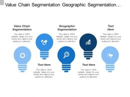 Value Chain Segmentation Geographic Segmentation Value Distribution Value Creation