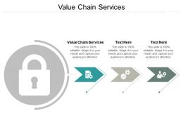 Value Chain Services Ppt Powerpoint Presentation Pictures Brochure Cpb