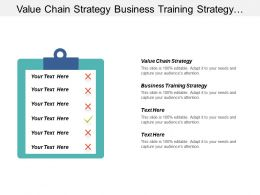 Value Chain Strategy Business Training Strategy Asset Management Cpb