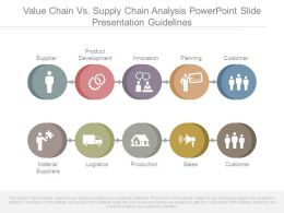 Value Chain Vs Supply Chain Analysis Powerpoint Slide Presentation Guidelines