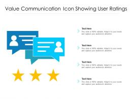 Value Communication Icon Showing User Ratings