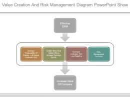 Value Creation And Risk Management Diagram Powerpoint Show