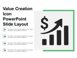 Value Creation Icon Presentation Slide Layout