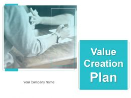 Value Creation Plan Powerpoint Presentation Slides