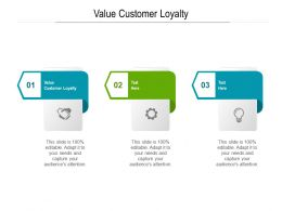 Value Customer Loyalty Ppt Powerpoint Presentation Layouts Outfit Cpb