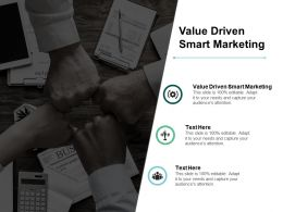 Value Driven Smart Marketing Ppt Powerpoint Presentation Pictures Summary Cpb
